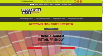 The Decorators Mate Ltd in London | Trade decorating supplier