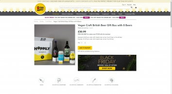 Hoppily Vegan Craft British Beer Gift Box with 8 Beers