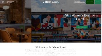 Home - The Manor Arms Pub & Restaurant, Streatham, London SW16 6LQ - 020 3195 6888
