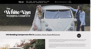 Vw Campervan Wedding Hire | Welling | The White Van Wedding Company