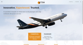 Welcome to Titan Airways, the UK\'s most prestigious charter airline specialising in VIP and corporate travel
