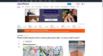 How will plastic bottle deposit return scheme work? - Yahoo Finance