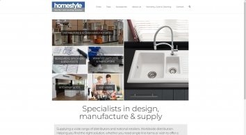 Suppliers of own label kitchen sinks, taps and accessories | Homestyle Products Ltd