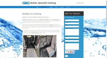 Mobility Disability & Special Needs Vehicles, Valeting & Car Cleaning
