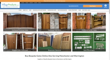 Buy Bespoke Gates Online and in Manchester | Village Products