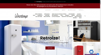 Wine Storage, Coolers, Racks, Cooling Systems and Accessories - Vinotemp