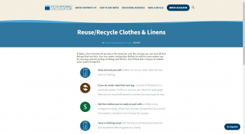 Reuse/Recycle Clothes & Linens - Water Footprint Calculator