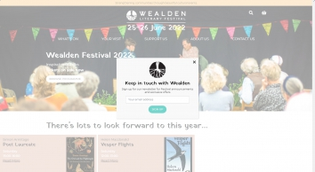 Wealden Literary Festival celebrating the nature of place at Boldshaves Garden, Woodchurch, Kent