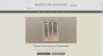 Timber frame doors by West End Joinery, Sevenoaks