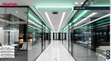 Glazed office partitions and acoustic glazing | West Park Contracting