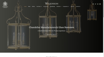 Wilkinson\'s - chandelier manufacturers and glass restorers