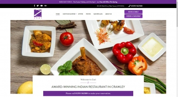 Zari Restaurant | REAL Indian Dining Restaurant in Crawley